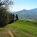 Rückblick den Wanderweg hinunter bis nach Appenzell