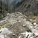 Il sentiero che sale dal canalone
