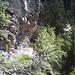 Bisse de Obere Birch, passage délicat dans le Gollerufi.