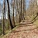 langer, weit ausholender Aufstiegsweg ...