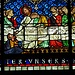 Bleiglasfenster von aussergewöhnlicher Leuchtkraft<br />Abendmahlsszene