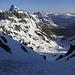 Im Couloir in den Gipfelbereich von Piz Bial und Piz d'Alp Val - eher eine Plackerei als schwierig