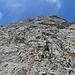 auf dem Wanderweg in Richtung Äscher hat es an schönen Tagen immer Bergsteiger an den Felswänden