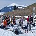 Hinter St. Antönien Rüti beginnt die zusammenhängende Schneedecke