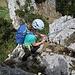 erste Abseilstelle nach dem Gipfel