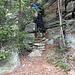 ein kleines Treppchen auf dem Weg zur Cima Cioltro
