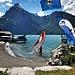 Mein Zelt stand dann in Flüelen, nah am Wasser. Der Wind starb erst am späteren Nachmittag, die Surferinnen und Surfer hatten ihren Spass!