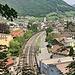 Von Morschach her kommt man fast über dem Bahnhof von Brunnen herunter. Hier endet meine Runde um den wunderschönen Vierwaldstättersee.
