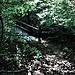 La passerella sul torrente della Valle della Boschina.