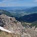 Rückblick vom Gipfel den Nordost-Grat hinunter