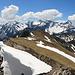 tolle Aussicht auf die schönen Berge im Rätikon
