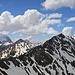 Panüeler Kopf, Windeggerspitze, Tuklar, von links nach rechts