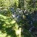 Mittlerer Wasserfall der Sunkenlaine, links davon geht es hinauf.