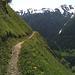 Avant Riti, en quittant le vallon de la Schwarze Brunne.