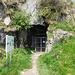 galleria di collegamento all'acceso della Batteria in Caverna