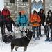 ecco il gruppo pronto per il rientro: caspita che bella nevicata