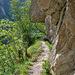 Über den Hüterweg führt der Aufstieg in die Baltschiederklause