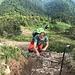 die Tour macht Spass 2 - Susanne im Ausstieg aus der Felspassage