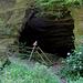 Auch die Absperrung ist von der Erosion gekennzeichnet.