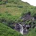 .. viel Wasser und ziemlich zugewachsen (siehe Alpenrosen über dem Wasserfall)