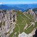 il sentiero che porta al Colle Garibaldi dal quale poi scenderemo
