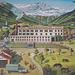 romantisierende Zeichnung der damaligen Fabrikanlagen in Dangio