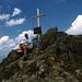 Mit Dusty allein auf dem Gipfel des Sulzkogels