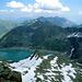 Blick nach Osten hinunter zum Finstertaler Staussee