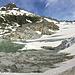 Das alljährliche Panoramabild vom Rhonegletscher: Im Vergleich zu Vorjahren ist der Rückgang des Gletschers erschreckend.