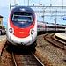 Der ETR 93 aus Zürich rollt in Arth-Goldau heran