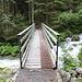 <b>Ponte sul minaccioso e rombante Fellibach, in piena, 1318 m. </b>