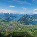 Ausblick vom Kleinen Mythen mit Schwyz und Brunnen