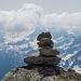 Gipfelsteinmann auf der Fibbia