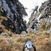 Gewaltiger Tiefblick vom Grat zwischen Alvier und Chli Alvier