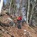 auch typisch für die Jura-Kreten: das in grossen Mengen liegende Laub. Der Abstieg erforderte ab P. 1136 streckenweise höchste Konzentration, so rutschig war's in den steilen Wegabschnitten