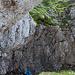 Klettersteigartig versicherte Querung