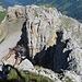 Plaisir am Chaiserstock II - hier am Ausstieg aus einer 4 m hohen Verschneidung