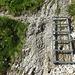 Eine kleine Leiter - der Steig ist aber kein Klettersteig.