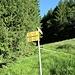 Poco prima della fine dell' asfalto, un bivio indica l'inizio del sentiero per molte direzioni.<br />Tra cui Alpe Sfii, Lago Sfii, Passo della Cavegna, Vergeletto, Corte di Sopra, Lago Gelato, Lago Pozzoi