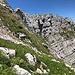 Im Gipfelaufstieg, blick nach rechts.