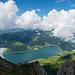 Blick zum Wägitalersee und nach Innerthal
