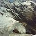 Gipfelpanorama nach SW: über Rottal- und Stufesteigletscher von links Gross-, Breit-, Tschingel- und Balmhorn, am Horizont links u.a. Grand Combin, rechts Mont Blanc