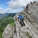 Plattige Passagen beim Abstieg von der Vorderen Rossflue (Foto von [u Stijn])