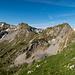 Rechts Schafnase, Links die beiden Gipfel der Rossflue