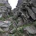 Die 6 Leitern im Abstieg vom Grat des Hohgant-West zum Punkt 1870 m
