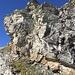 Das Wildwechselband, für mich der Zustieg und Abstieg. Jedoch empfehle ich über den Grat zu Klettern und das Band für den Abstieg zu nehmen.