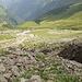 Blick zurück beim Aufstieg zur Twäriberglücke.