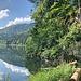 Ab und zu auch mal eine Leiter. Am Lac de Biaufond geht's immer ganz nah am Ufer entlang.