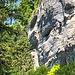Les Echelles de la Mort. Ein Klettersteig hoch (Foto ist stark gezoomt) über einem. Das waren ein paar der wenigen Menschen, die ich an diesem Tag gesehen habe.