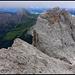 Am Gipfel des Sas Rigais. Die Wolkenunterseite zieht eine klare Grenze.